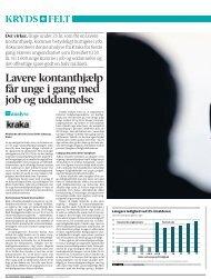 Lavere kontanthjælp får unge i gang med job og uddannelse - Kraka