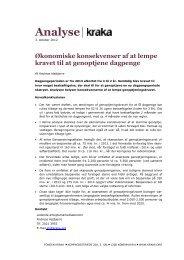 Analyse - Økonomiske konsekvenser af at lempe ... - Kraka