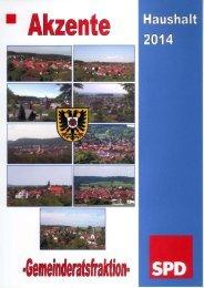 Haushaltsrede der SPD-Fraktion - Stadt Kraichtal