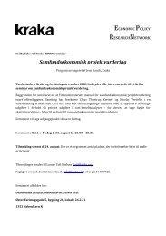 Samfundsøkonomisk projektvurdering - Kraka