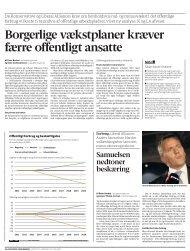 Borgerlige vækstplaner kræver færre offentligt ansatte - Kraka