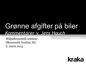 Krakas kommentarer til DØR's kapitel om Grønne afgifter på transport