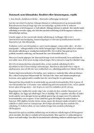 Danmark som klimaduks: Realitet eller fatamorgana, replik - Kraka