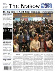 It's big money: Cash from earnings comes home - Krakow Post