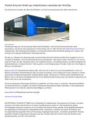 Profiroll Schuricht GmbH aus Veitshöchheim unterstützt den Girls'Day
