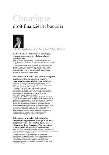 Chronique - Kramer Levin Naftalis & Frankel LLP