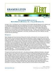 Reconsidering NDAs in Light of Martin Marietta Materials, Inc. v ...