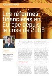 Les réformes financières en Europe depuis la crise de 2008