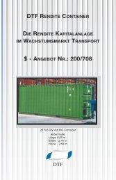 ANGEBOT NR.: 200/708 - DTF Der Transport Fonds