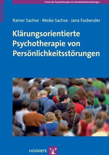 Klärungsorientierte Psychotherapie von ... - Hogrefe