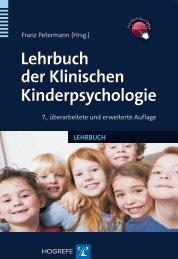 Lehrbuch der Klinischen Kinderpsychologie - Krammer