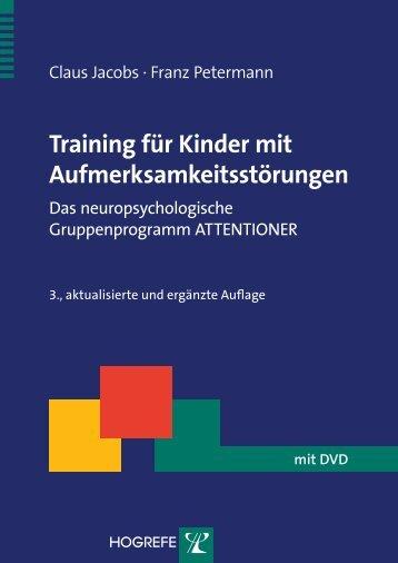 Training für Kinder mit Aufmerksamkeitsstörungen - Krammer