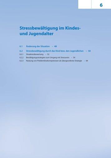 6 Stressbewältigung im Kindes- und Jugendalter - Krammer