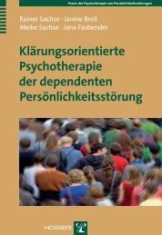 Klärungsorientierte Psychotherapie der dependenten ... - Krammer