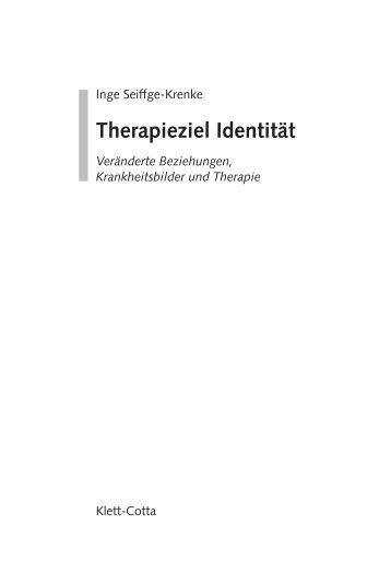 Therapieziel Identität - Klett-Cotta