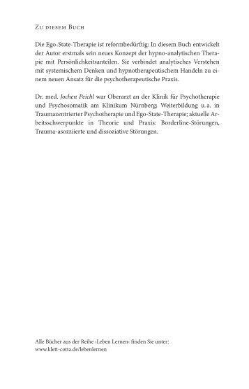 Zu diesem Buch Die Ego-State-Therapie ist ... - Klett-Cotta