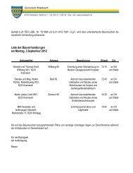 Bauverhandlungen am 03.09.2012