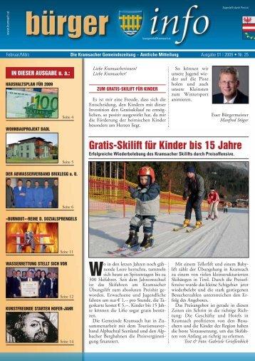 01/2009 Nr. 25 (762 KB) - Gemeinde Kramsach