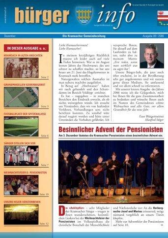 Besinnlicher Advent der Pensionisten - Gemeinde Kramsach