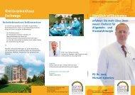 Flyer Allgemein- und Viszeralchirurgie - Kreiskrankenhaus Eschwege