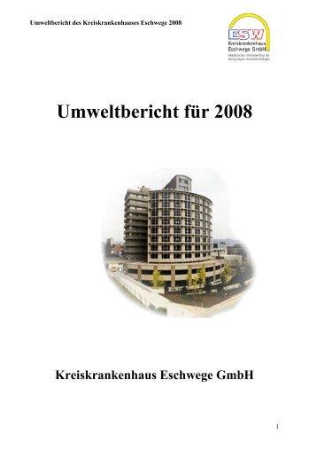Umweltbericht für 2008 - Kreiskrankenhaus Eschwege GmbH ...