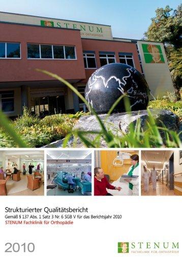 Qualitätsbericht 2010 - Fachklinik für Orthopädie Stenum