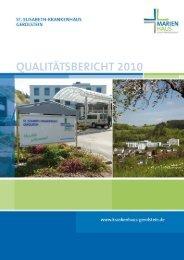 Qualitätsbericht 2010 - Marienhaus Klinikum Eifel