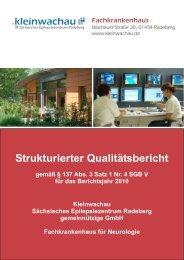 strukturierter Qualitätsbericht von 2010 - Kleinwachau