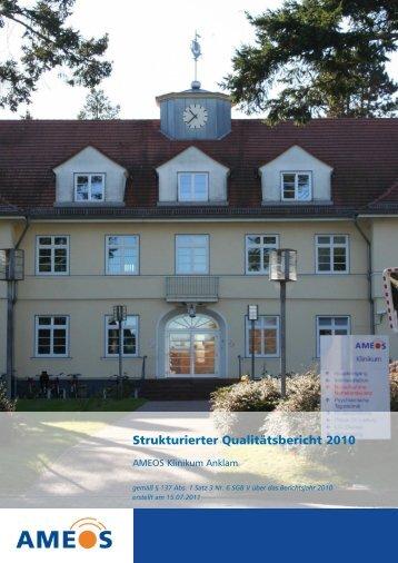 Qualitätsbericht 2010 AMEOS Klinikum Anklam - Krankenhaus.de