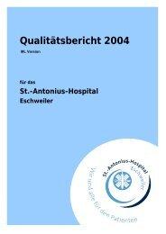 Qualitätsbericht 2004 - Krankenhaus.de