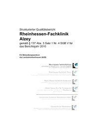 Qualitätsbericht 2010 - Rheinhessen-Fachklinik Alzey