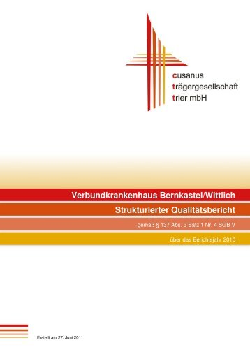 Qualitätsbericht 2010 - Krankenhaus.de