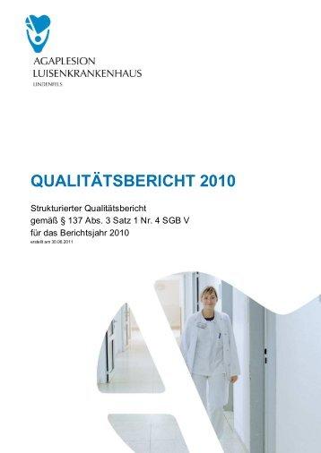 strukturierter Qualitätsbericht von 2010 (1,40 MB) - Kliniken.de