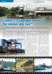 """""""John T. Essberger verlässt für immer die See"""" - KRANMAGAZIN"""