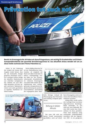 Prävention tut auch not - Kranmagazin.de