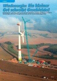 Windenergie: Ein kleiner Ort schreibt Geschichte! - KRANMAGAZIN