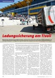 Ladungssicherung am Tivoli - KRANMAGAZIN