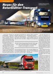 Neues für den Rotorblätter-Transport - Kranmagazin.de