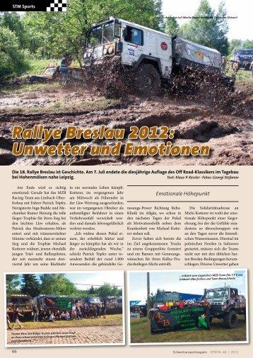 Rallye Breslau 2012: Unwetter und Emotionen - KRANMAGAZIN