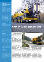 GMK 7450 auf großer Fahrt - Kranmagazin.de