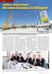 40 Jahre Kranbau in Ehingen! - KRANMAGAZIN