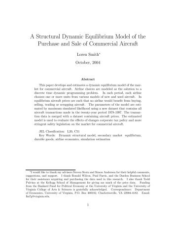 A Structural Dynamic Equilibrium Model of the Market for New and ...