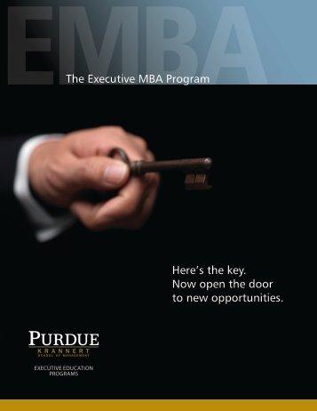 EMBA - Krannert School of Management - Purdue University
