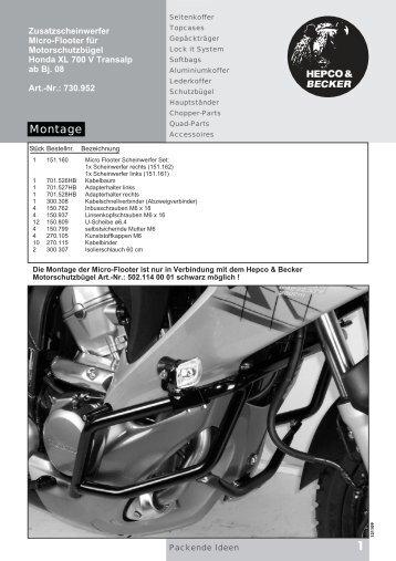 Honda XL 700 V Flooter - Krauser GmbH