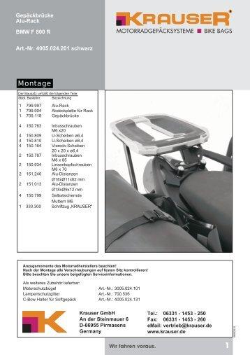 BMW F 800 R Alurack KR - Krauser GmbH