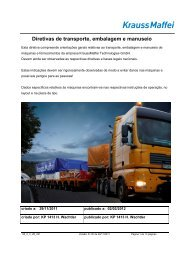 Transporte marítimo de máquinas - Krauss Maffei