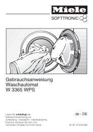 Gebrauchsanweisung Waschautomat W 3365 WPS - Akaflieg Graz
