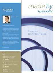 Trend zur Großrohrextrusion - Krauss Maffei