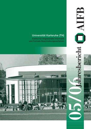 Jahresbericht - Institut AIFB