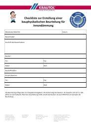 Checkliste Bauphysikalische Beurteilung - Krautol